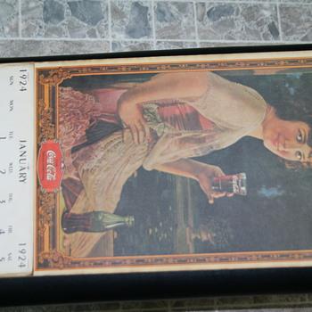 1924 coke-a-cola calander