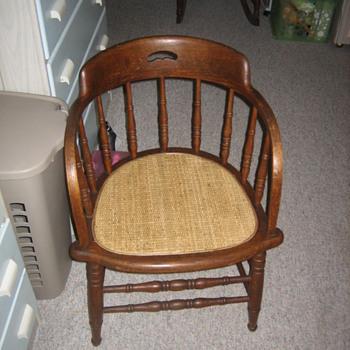 Oak  Barrel back - Furniture