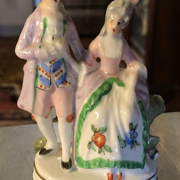 French Couple in Baroque Times - Made in Japan - Figurines
