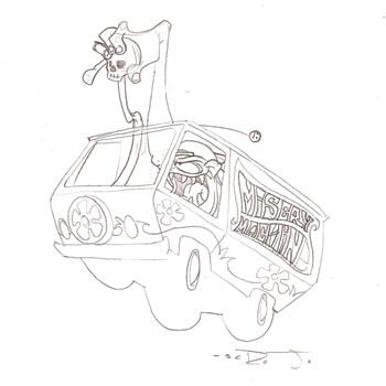 Scrojo sketch, Misery Machine, 2011 - Fine Art