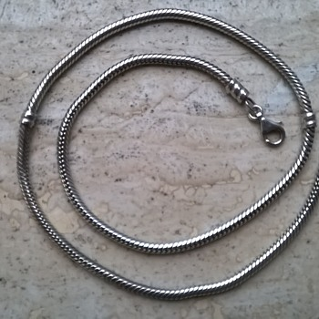 Two Sterling Silver Necklaces, Flea Market Finds - 1.00 Each! - Fine Jewelry