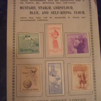 colmans mustard stamps