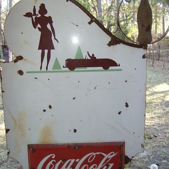 1940's coke sign - Coca-Cola