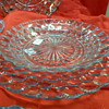 Bubble Glass Dinner set Grandmom Left us in Blue and set of Red service for 10 in each color
