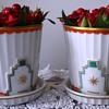 Porcelain planters designed by Otto Prutscher for the Wiener Werkstätte