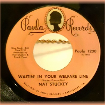 45 rpm Record -- PAULA RECORDS ( Division of JEWEL RECORDS )