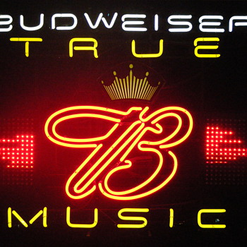 Budweiser True Music Neon