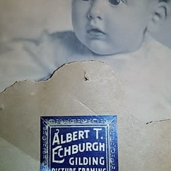 Antique baby photo and Boston Journal 1910 news clipping