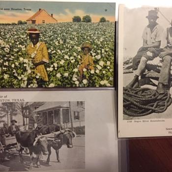 Black Americana Postcards Houston, Texas - Advertising
