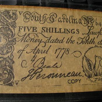 Old South Carolina Money ??