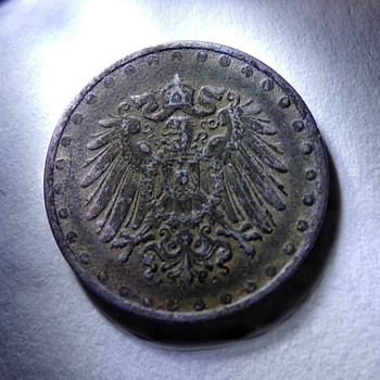 1916 Beaded 10 Pfennig - World Coins
