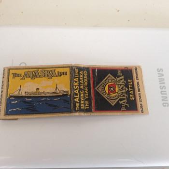 Vintage Rare Alaska Steamship Co. Matchbook  - Tobacciana