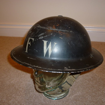 British WWII Fire Watchers helmet.