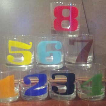 Numbered cocktail glasses 1-8 - Glassware