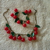 Bakelite Cherry Necklace