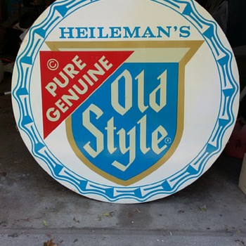 Heileman's Old Style Sign - Breweriana