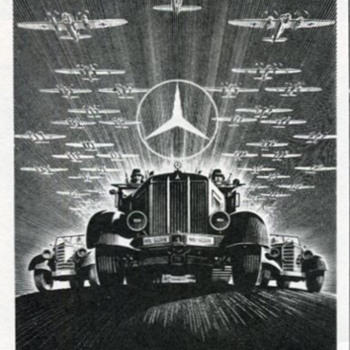 WWII Mercedes-Benz Advertisement - Military and Wartime