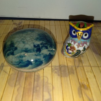 Vintage Japanese Box with Crackle glaze - Asian