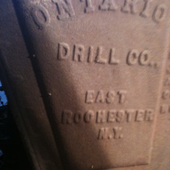1902 Ontario Drill Plow - Tools and Hardware