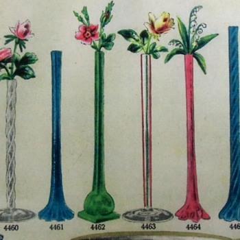 Great 1906+ Catalog Publications Bohemian Crystal Bud Vases Assortment - Art Glass