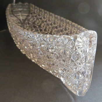 Pressed Glass Boat Shaped Celery Dish (Grace Darling)