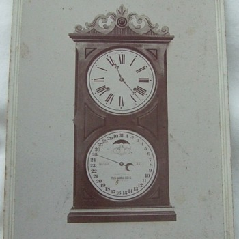 Cabinet Card of Ithaca Calendar Clock - Photographs