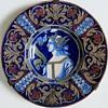 Antique Majolica Dish with Portrait, Dante?~Lots of damage but Gorgeous!