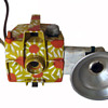 "Hippie Folk Art Camera Hand Painted ""Flower Power"" Daisies"