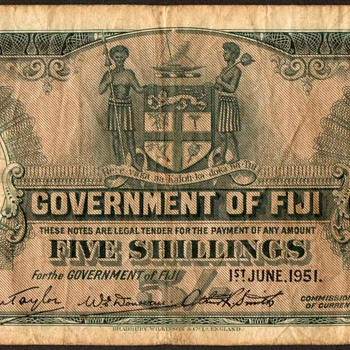 Fiji - (5) Shillings Bank Note