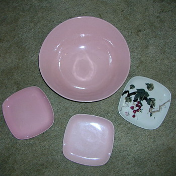 Pottery Bowl and 3 Side Dishes - Pottery