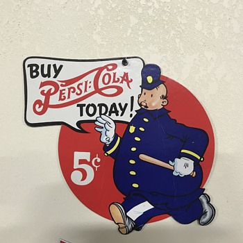 Pepsi 5 cent sign  - Advertising