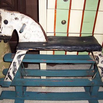 1920's Wooden Rocking Horse