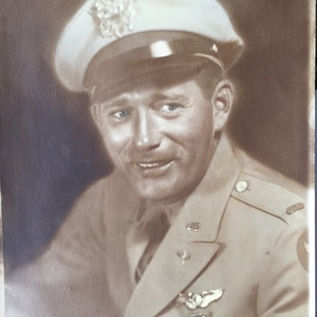Vintage 8 x 10 Military Photo Looks like a movie star unknow who he really is?? - Photographs