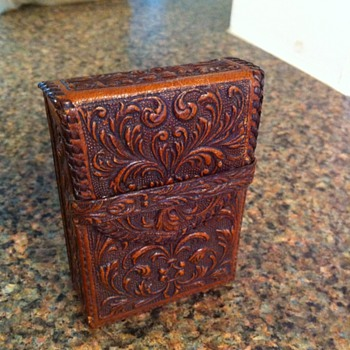 Vintage Leather Cigarette Case - Tobacciana
