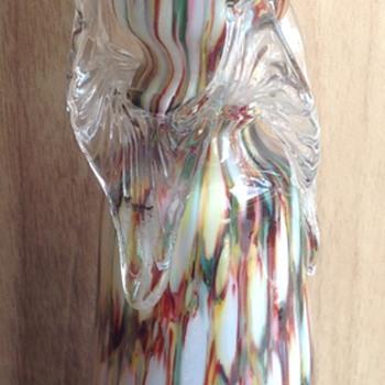 Welz Harlequin Honeycomb decor bulb vase - Art Glass