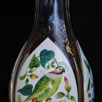 An artistically enamelled Harrach Vase - Art Glass