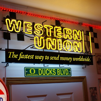 Western Union neon - Signs
