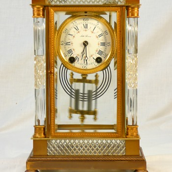 "Antique Seth Thomas ""Empire No. 30"" Crystal Regulator. - Clocks"