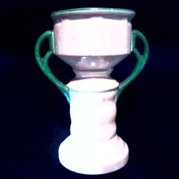 "Czech Lusterware Art Pottery 7"" ""Trophy"" Vase / Circa 20th Century - Pottery"