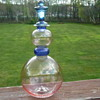 Pink and Blue Art Glass Decanter