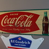 Original Metal Coca Cola Sign with a M.C.A. 1927 code.