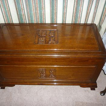 Bedding chest.