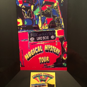 Magical Mystery Tour Bus piece-1967....