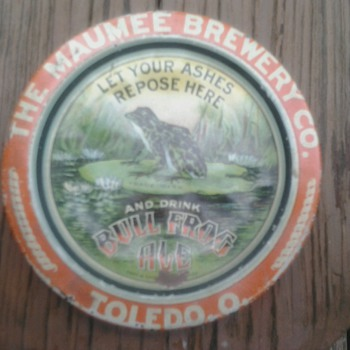 Maumee Brewery Co., Tip/Ash Tray 1900 - Breweriana