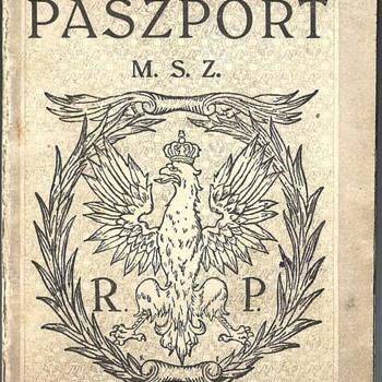 1927 Polish service passprot - Paper