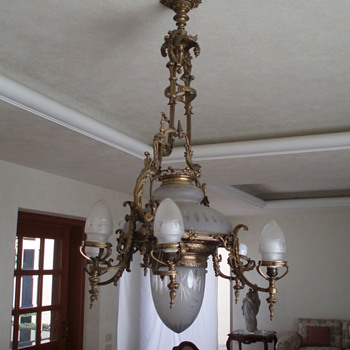 Antique Bronze Chandelier - Lamps
