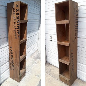 today's curb save - KNOB CREEK BOURBON wooden shelf - Advertising