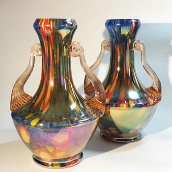 Kralik/Steinwald Glass Vases - Art Deco