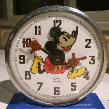 1951 Bayard Mickey Alarm Clock with a twist. - Clocks