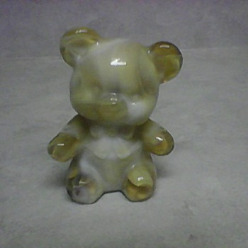 SLAG GLASS TEDDY BEAR - Animals